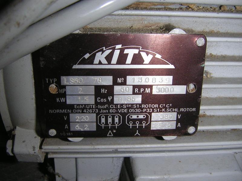 Moteur Kity 380 v 00110