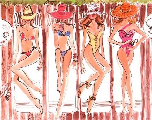 """Illustrations ... pour l'été ... Plage et """"farniente"""" ... - Page 4 05380c10"""