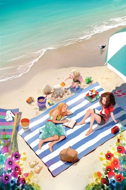"""Illustrations ... pour l'été ... Plage et """"farniente"""" ... - Page 3 0cf73410"""