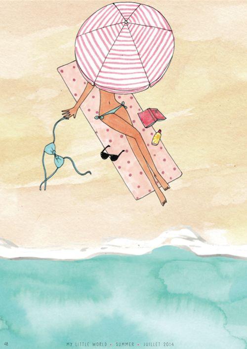 """Illustrations ... pour l'été ... Plage et """"farniente"""" ... - Page 4 15449a10"""