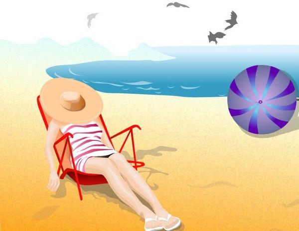 """Illustrations ... pour l'été ... Plage et """"farniente"""" ... - Page 3 2b6aee10"""