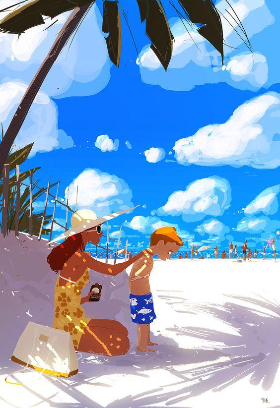 """Illustrations ... pour l'été ... Plage et """"farniente"""" ... - Page 5 342e5e10"""