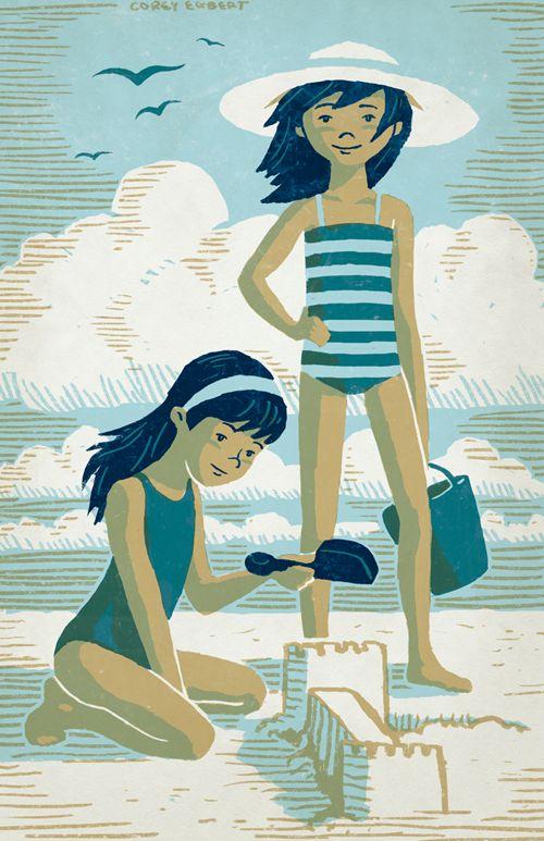 """Illustrations ... pour l'été ... Plage et """"farniente"""" ... - Page 4 60368e10"""