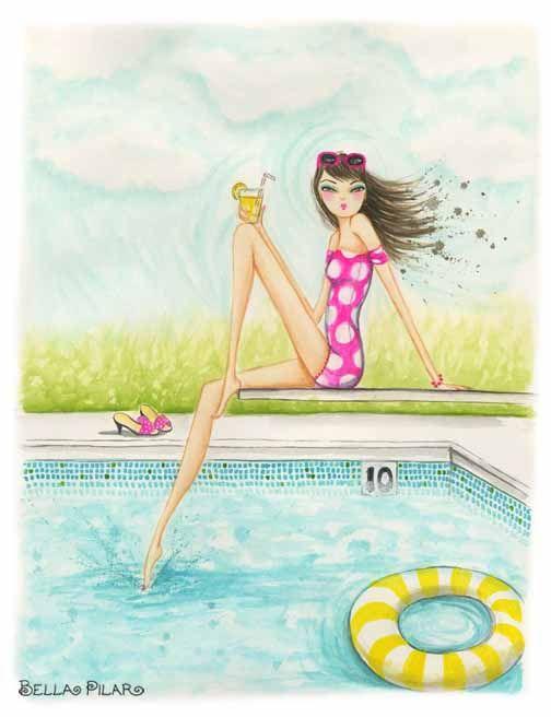 """Illustrations ... pour l'été ... Plage et """"farniente"""" ... - Page 5 88877810"""