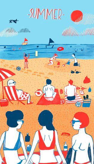 """Illustrations ... pour l'été ... Plage et """"farniente"""" ... - Page 4 995c2510"""