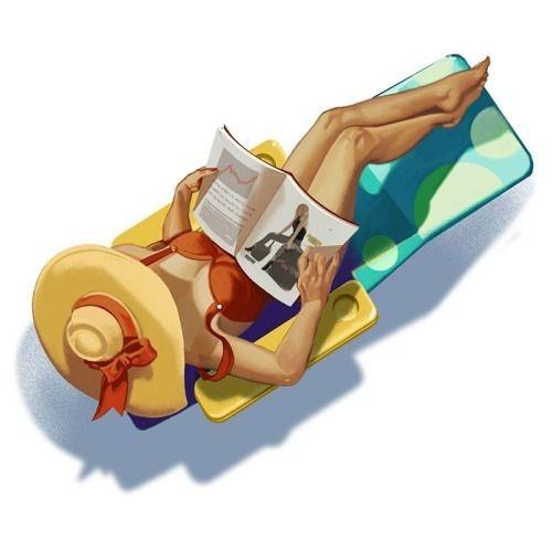 """Illustrations ... pour l'été ... Plage et """"farniente"""" ... - Page 4 B0e4a810"""