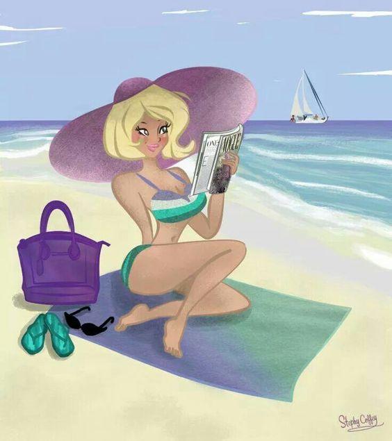 """Illustrations ... pour l'été ... Plage et """"farniente"""" ... - Page 5 Bb722e10"""