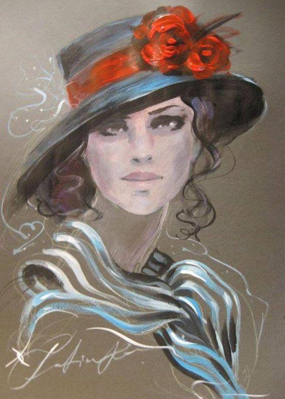 """Des élégantes  """"chapeautées"""" ... - Page 5 Fatima10"""