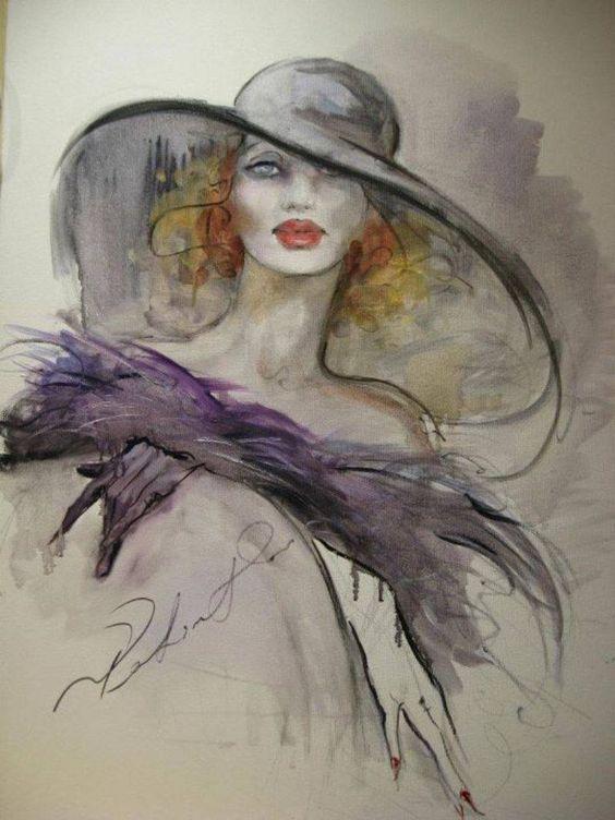 """Des élégantes  """"chapeautées"""" ... - Page 5 Fatima11"""