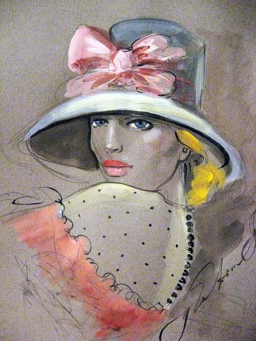 """Des élégantes  """"chapeautées"""" ... - Page 5 Fatima14"""