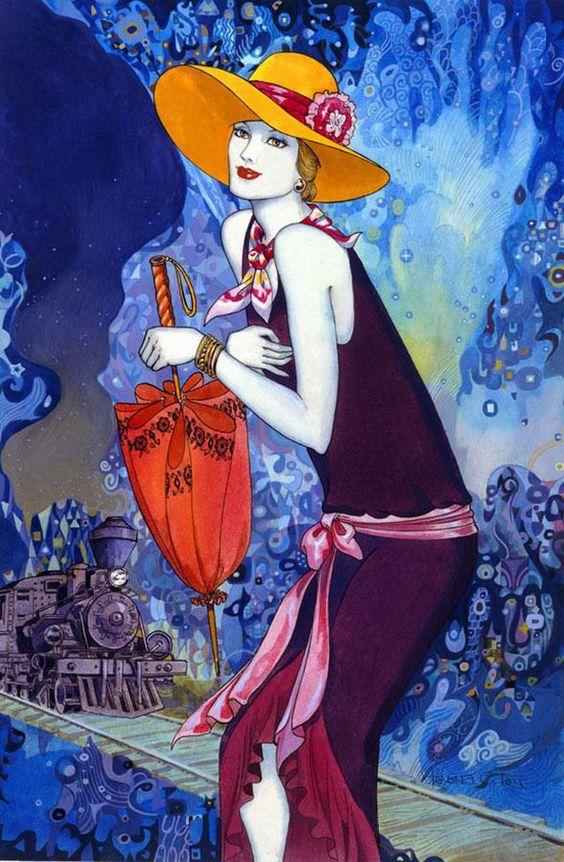 """Des élégantes  """"chapeautées"""" ... - Page 3 Helena11"""
