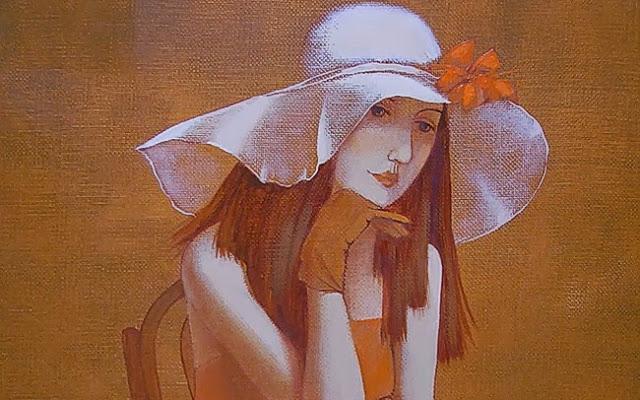 """Des élégantes  """"chapeautées"""" ... - Page 5 Olesya10"""
