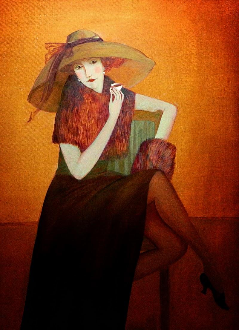 """Des élégantes  """"chapeautées"""" ... - Page 5 Olesya11"""
