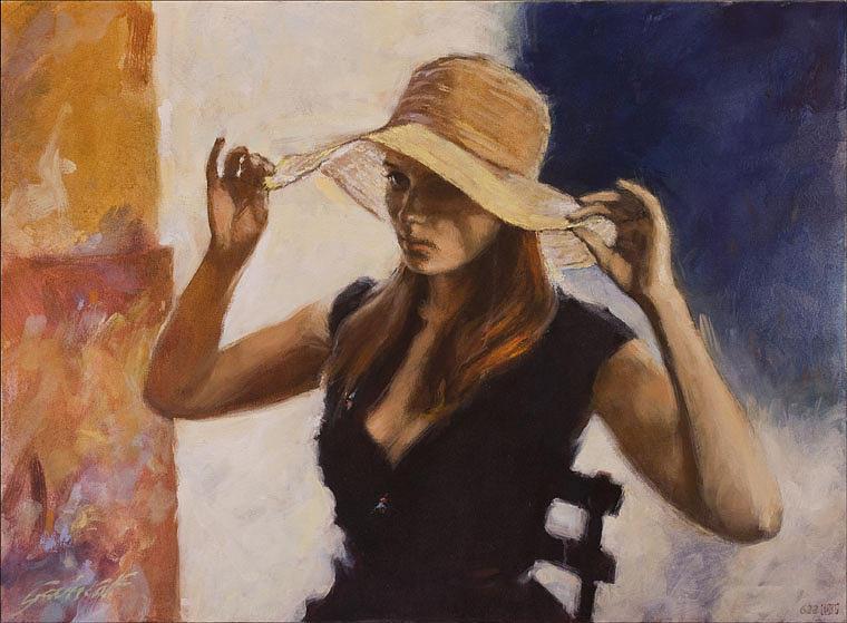 """Des élégantes  """"chapeautées"""" ... - Page 3 Woman-10"""