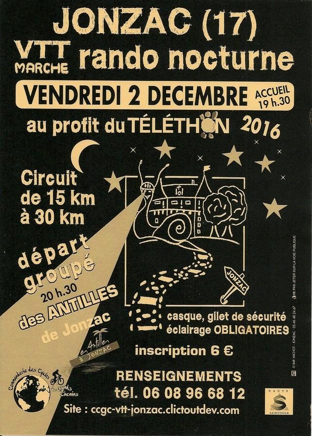 Vendredi 2 décembre 2016 - Rando Nocturne Téléthon - Jonzac Doc_4911