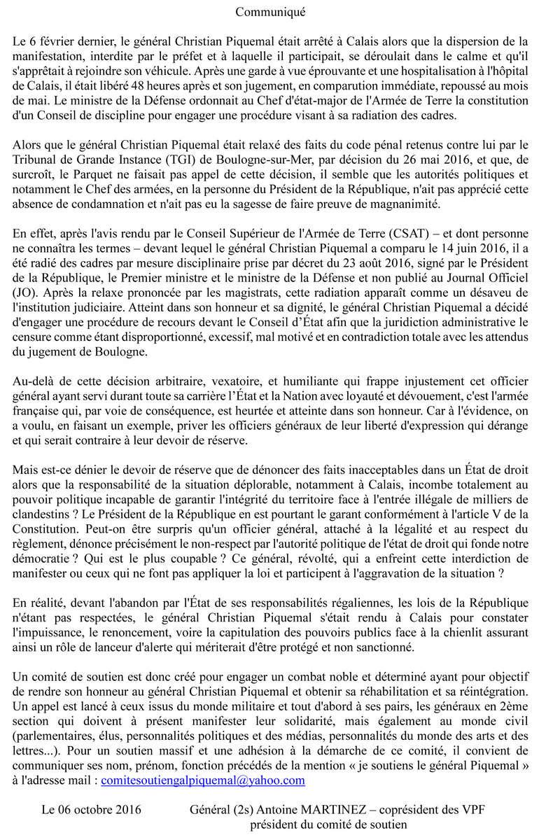 Comité de soutien au général Piquemal /envoyez un mail pour le soutenir. Commun12