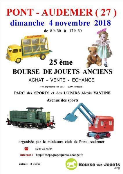 A noter aussi une des plus grande bourse aux jouets de Normandie Pont  Audemer 27 un peu après Rouen 6669274bb33b