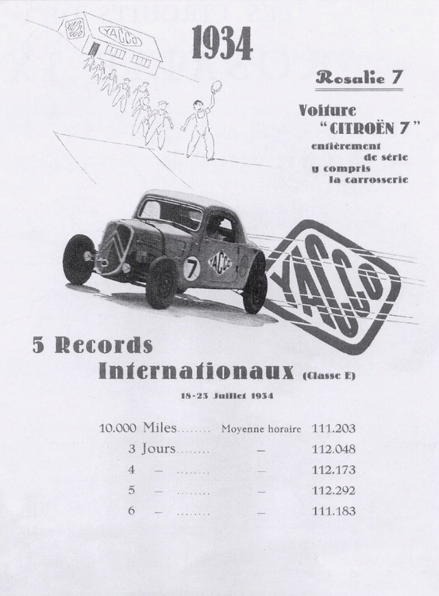 """Une Traction Citroën """"7S"""" parcourt 16 000 km en 6 jours Rosali11"""