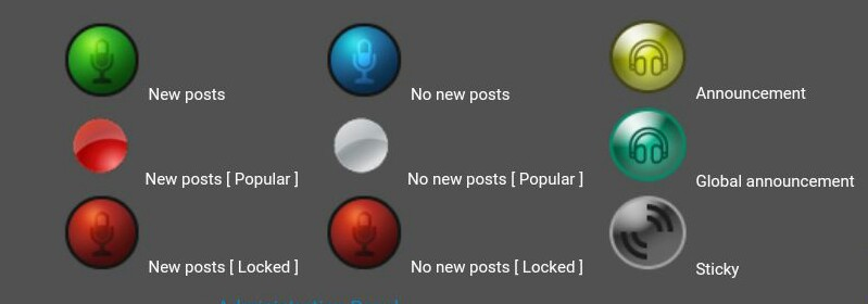 New Forum contact icons & global announcement, announcements & sticky icons  Webpag11