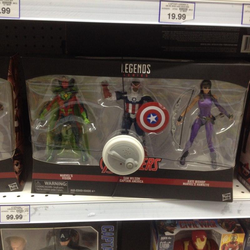 Marvel Legends Vision/Flaptain/Kate Bishop 3-pack Ml3pac10