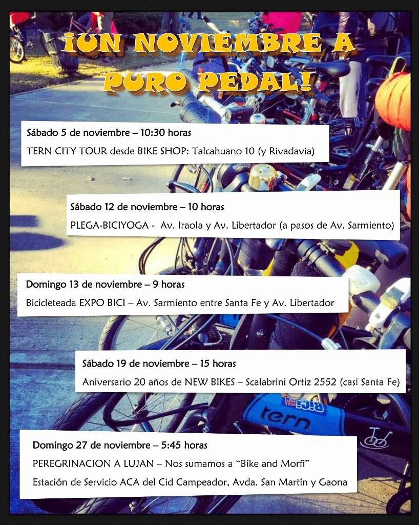 BIENVENIDO NOVIEMBRE! ¡Muchas actividades con nuestra bicis! Salida11