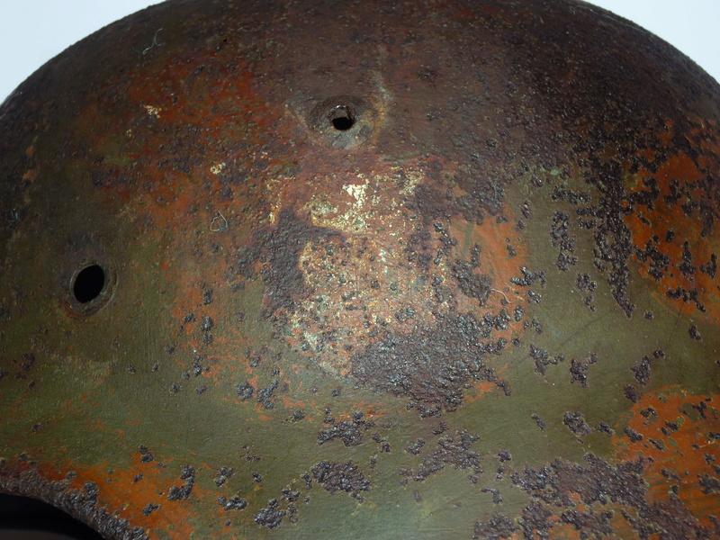 Casque Allemand, relique du débarquement de provence P1230424