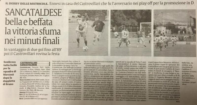 Campionato 1°giornata: castrovillari - SANCATALDESE 2-2 14199110