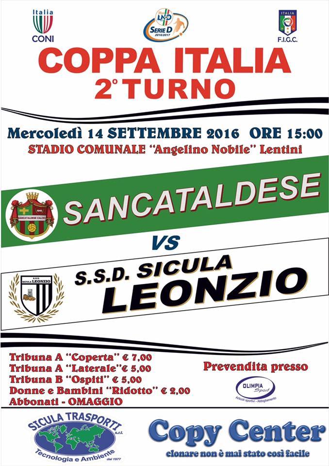 1° Turno - Gara unica: sicula leonzio - SANCATALDESE 1-3 dcr 14333710