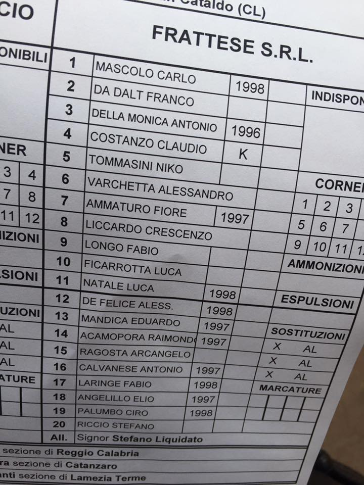 Campionato 4°giornata: SANCATALDESE - frattese 2-1 14433110