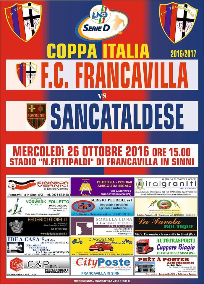 3° Turno c.i. - Gara unica: francavilla - SANCATALDESE 3-0 14642110