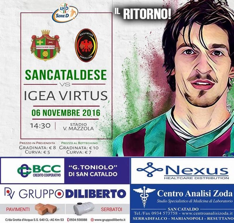 Campionato 10°giornata: SANCATALDESE - igea virtus 1-2 14900310