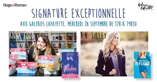 Dédicace d'Anna Todd et R.K. Lilley à Paris le 28 septembre ! Signat10