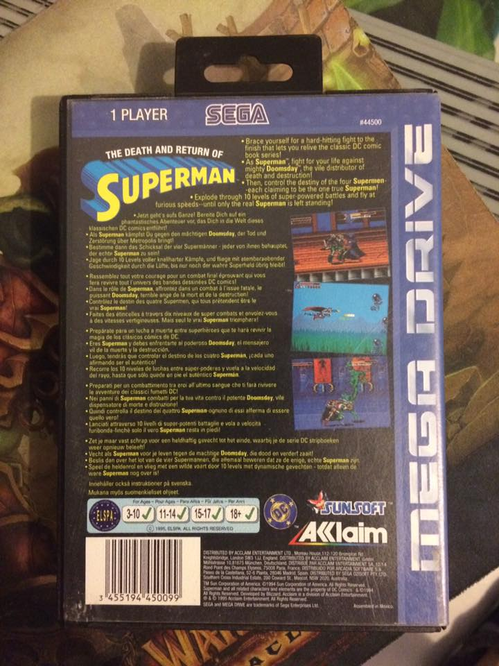 VENDU !!! The death and return of superman mega drive 14670810