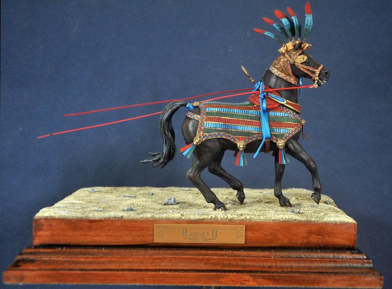 Ramsès II sur son char de guerre- 90 mm Andrea. Fin du premier cheval Dsc_0010