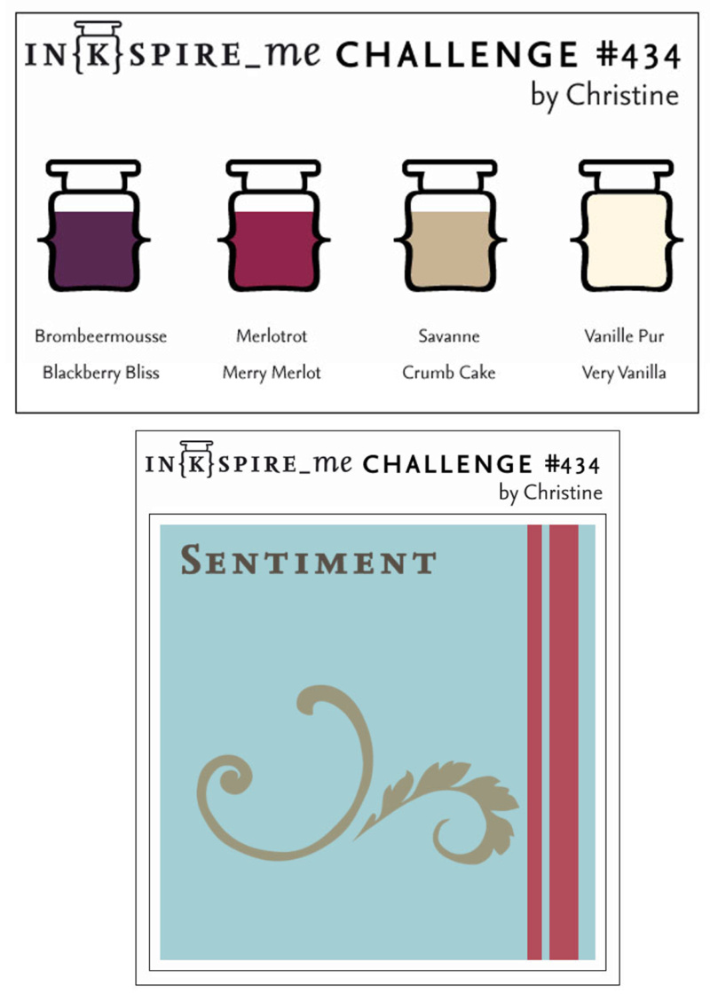 IN{K}SPIRE_me Challenge #434, Stampin Up, Sketch, Color, Challenge