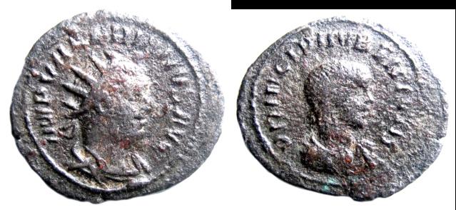 Valérien II : latin tardif sur variante de légende inédite Princi12