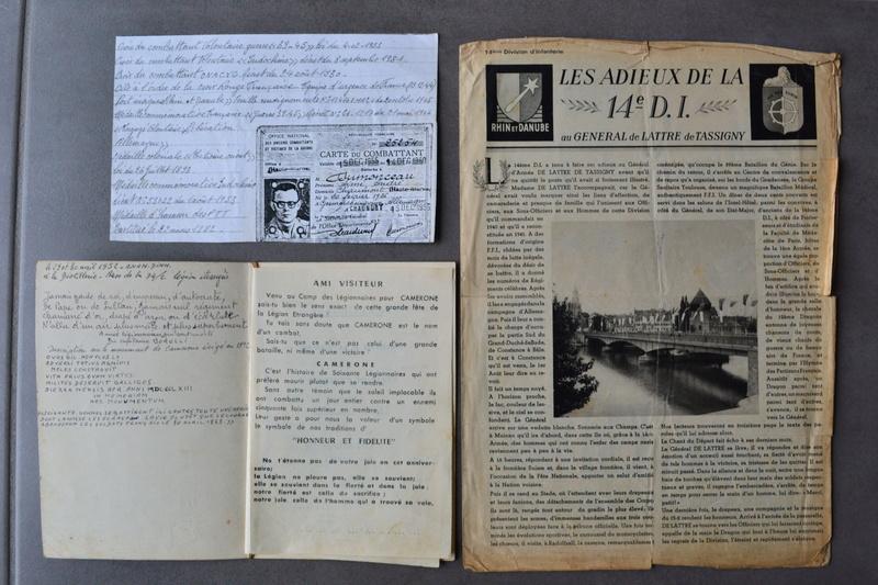 Lot documents ancien engagé volontaire 14° D.I Division DE LATTRE et légionnaire sapeur du génie??? en Indo.ESC 1 A CLOTURER. Dsc_0744