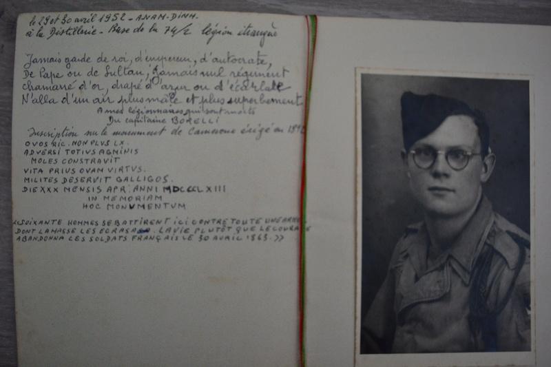 Lot documents ancien engagé volontaire 14° D.I Division DE LATTRE et légionnaire sapeur du génie??? en Indo.ESC 1 A CLOTURER. Dsc_0835