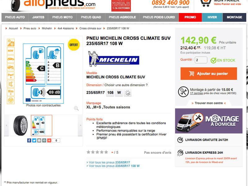 Pneus Nitro Michelin Cross Climate 4 saisons Captur24