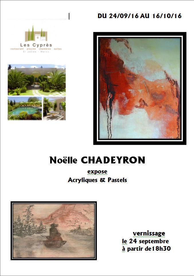 24/09 au 16/10 - Exposition de peintures  de Noëlle Chadeyron au Cyprès - vernissage 24/09 - 18 h 30 Chadey11