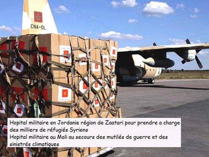 Le Maroc rayonne par son aide et assistance aux pays en crise Syrie110