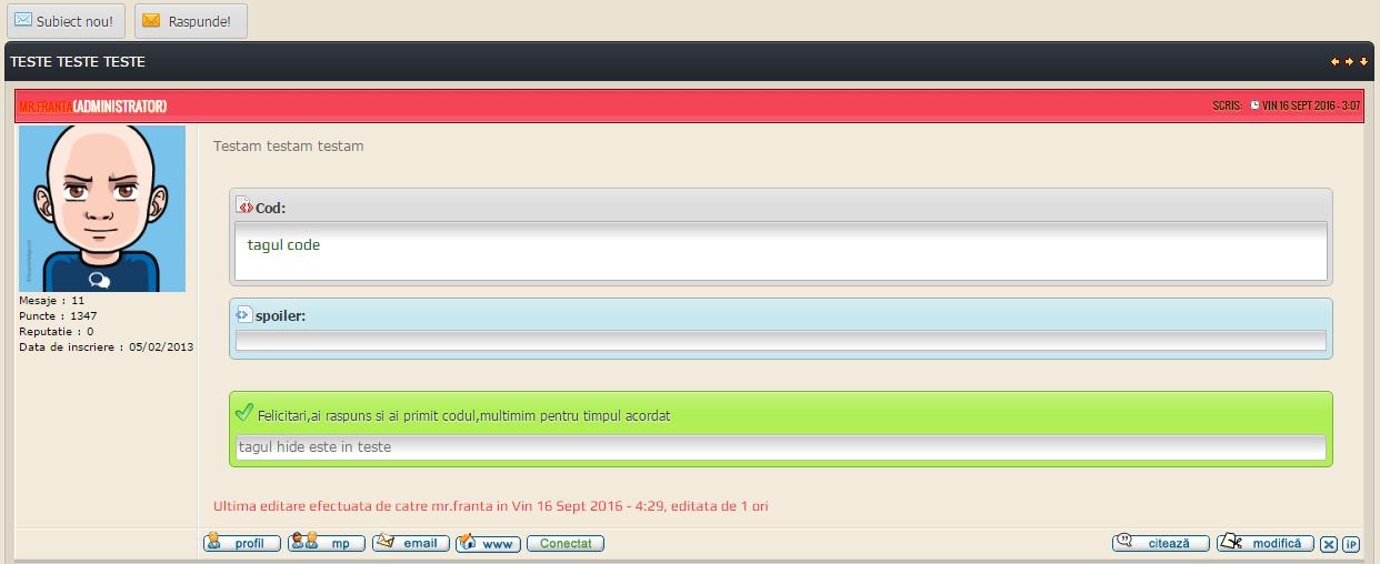 Coduri CSS pentru forum Taguri10