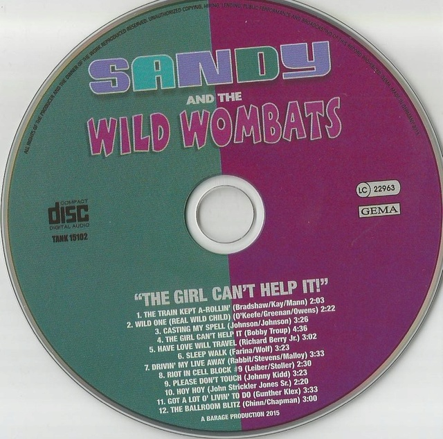 SANDY AND THE WILD WOMBATS Cd_san11