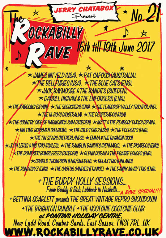15/19 JUNE 2017 - THE ROCKABILLY RAVE #21 Pearl117