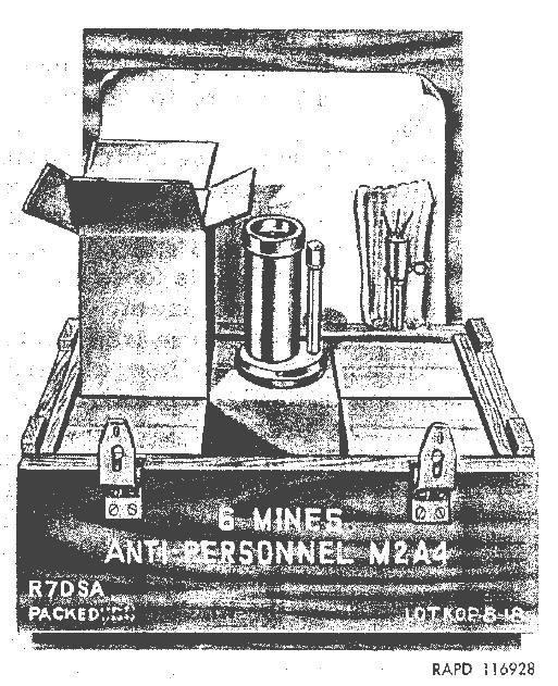 L'ARMEMENT DE LA 4th INFANTRY DIVISION : LA MINE BONDISSANTE M2A1 (et ses variantes) Caisse10