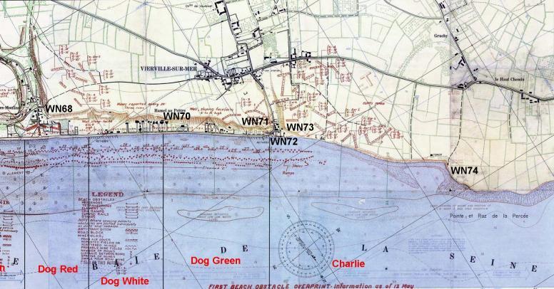 6 - Diagramme des débarquements réalisés à Vierville Carte10
