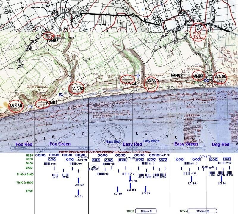 5 - Le programme des débarquements d'assaut sur Omaha Beach et plus spécialement à Vierville Omahas10