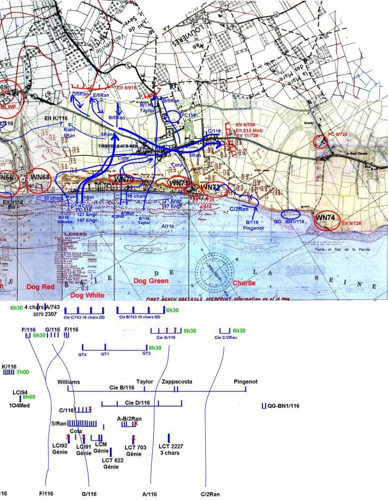 5 - Le programme des débarquements d'assaut sur Omaha Beach et plus spécialement à Vierville Omahas11