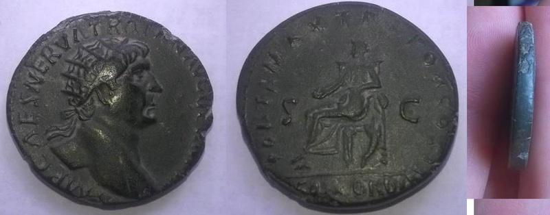 Dupondius de Trajan à préciser Trajan13