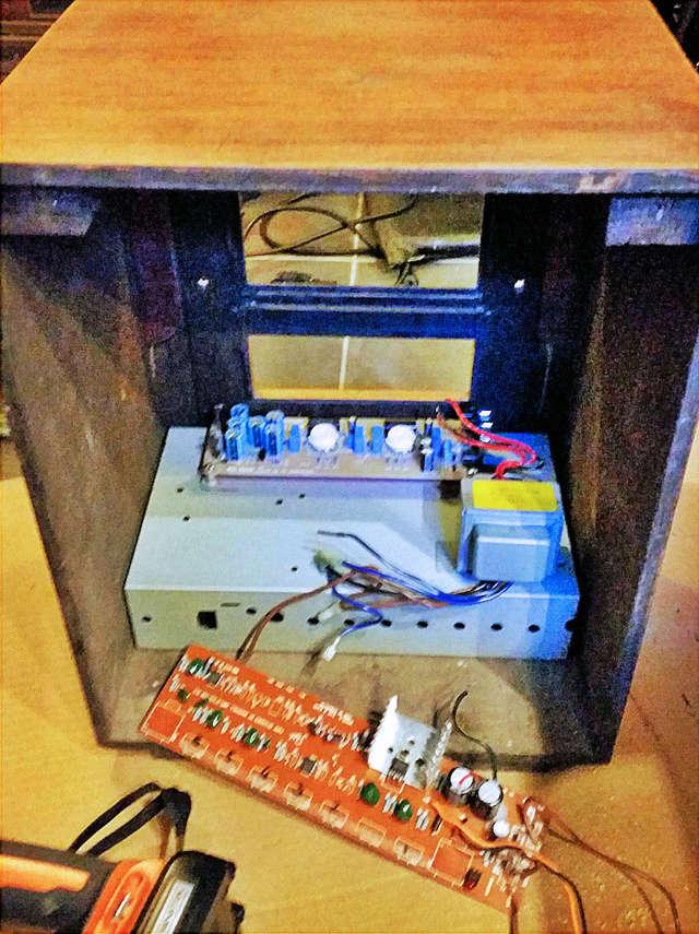 "VintageAmp : TSF + Marshall 10w + buffer à tubes + HP 6"" 15W Jensen A410"